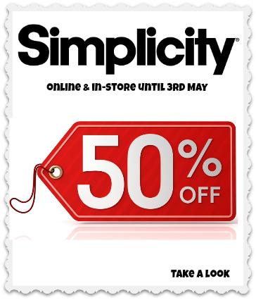 Simplicity Patterns Half Price