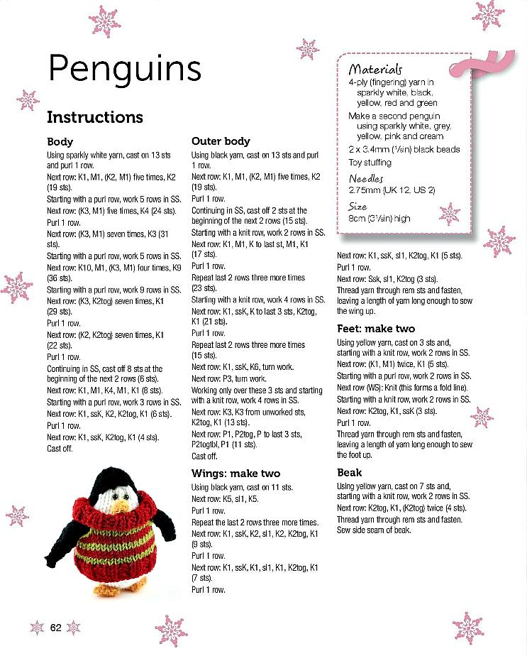 Make Your own Mini Knitted Christmas Penguin