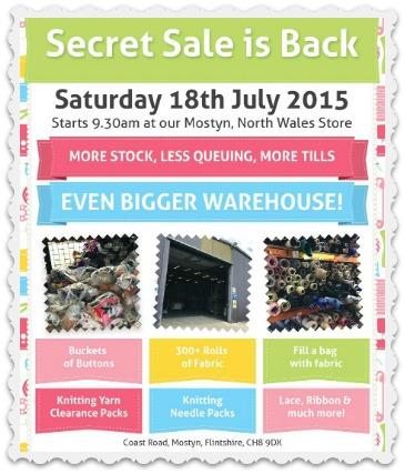 Secret Sale in July