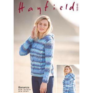 "Hayfield Bonanza Hooded Sweater 32-34 to 52-54"""