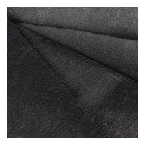 Heavyweight Iron On Interfacing Black 75cm