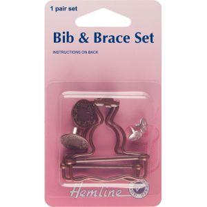 Hemline Bib And Brace Set Bronze 40mm