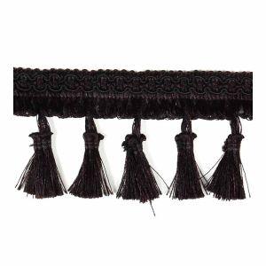 Vienna Tassel Fringe 16 Black 25mm