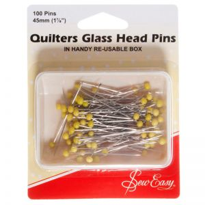 Sew Easy Quilting Pins Glass Head  50mm x 0.75mm
