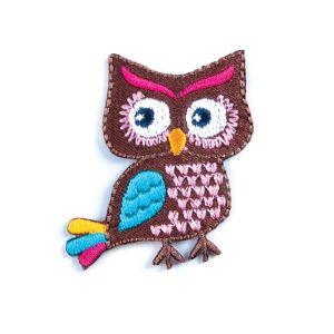 Owl Motif Code A Brown 4.5 x  4cm