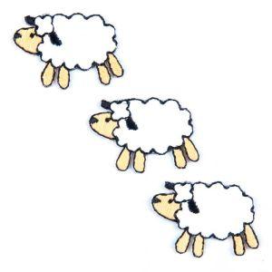 Three Sheep Trio Motif Code A 2.2 x 3.cm