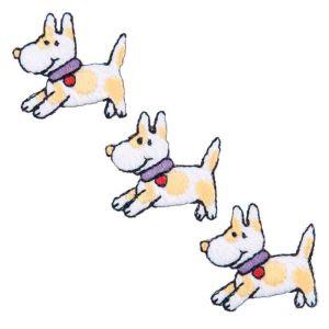 Doggy Trio Motif Code B 2.1 x 2.9cm