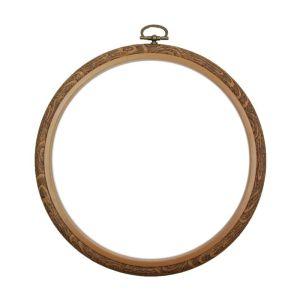 "Siesta Round Flexi Hoop Woodgrain 18cm (7"")"
