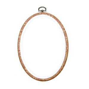 "Siesta Oval Flexi Hoop Woodgrain 13cm x 18cm (5"" x 7"")"