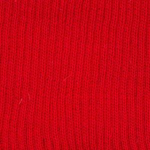 Plain Knitted Border Red 30 L76cm x H7.5cm