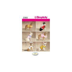 Simplicity Sewing Pattern Pet Accessories XXS-M