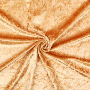 Crushed Velour Crease Resistant Fabric 4 Gold 150cm
