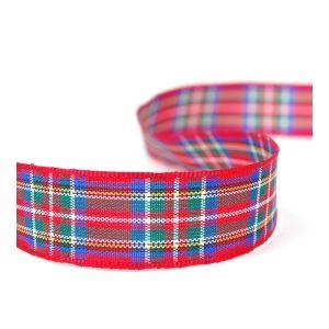 Tartan Ribbon 7 Royal Stewart 16mm