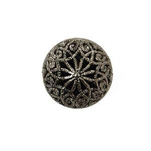 Filigree Dill Button Antique Silver 14mm