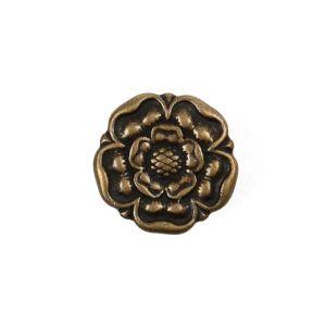 Metal Flower Dill Button Antique Gold 15mm