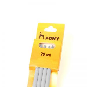 Pony Knitting Pins Double Ended Pack of 4 20cm x 6.50mm