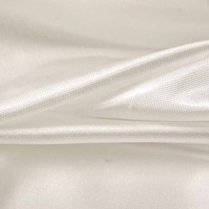 Plain Polyester Habotai Fabric Ivory 145cm
