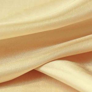 Plain Polyester Habotai Fabric Gold 145cm
