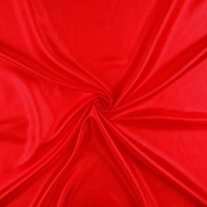 Plain Polyester Habotai Fabric Red 145cm