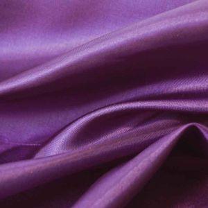 Plain Polyester Habotai Fabric Purple 145cm