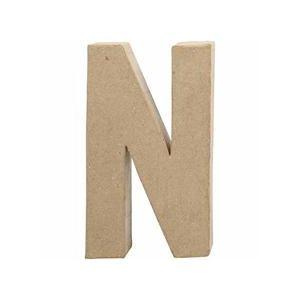 Papier Mache Large Letter N 20.5cm