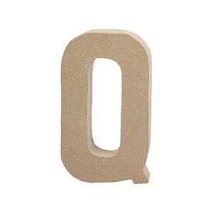 Papier Mache Large Letter Q 20.5cm