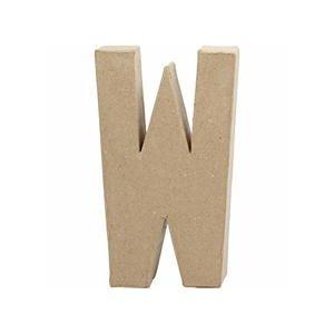 Papier Mache Large Letter W 20.5cm