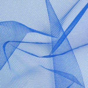 Stiff Tulle Dressmaking Fabric Empire Blue 150cm