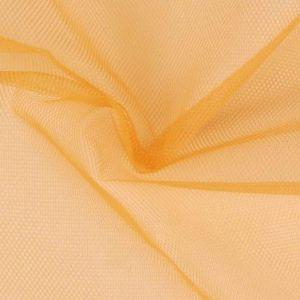 Stiff Tulle Dressmaking Fabric Gold 150cm