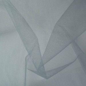 Stiff Tulle Dressmaking Fabric Silver Grey 150cm