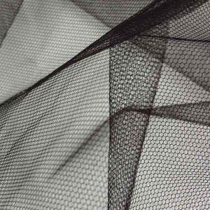 Stiff Tulle Dressmaking Fabric Black 150cm