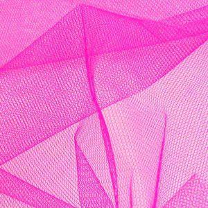 Stiff Tulle Dressmaking Fabric Flo Pink 150cm