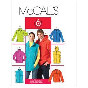 McCall's Sewing Pattern Unisex Jackets M5252 XL-XXXL