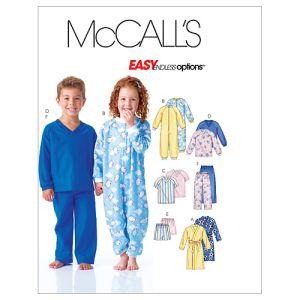 McCall's Sewing Pattern Children's Loungewear M6224 Age 4-6