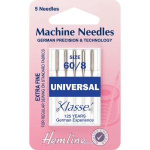Sewing Machine Needles Universal  Extra Fine - Size 60/8