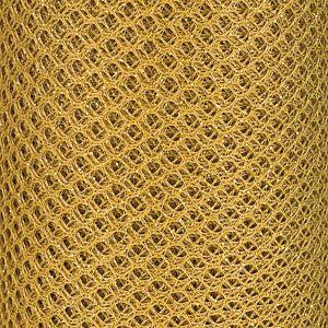 Glitter Honeycombe Net Light Gold 15cm