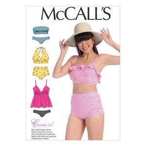 McCall's Sewing Pattern Misses' Swimwear M7168 A5 6-14