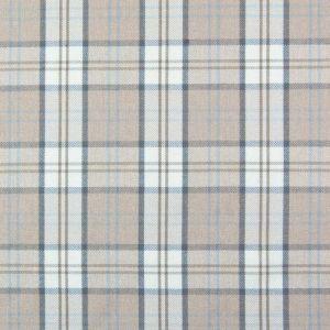 Lewis Check Curtain Fabric Fabric Latte 140cm