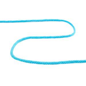 Cotton Acrylic Drawstring Cord Turquoise 4mm
