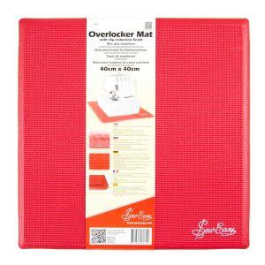 Sew Easy Overlocker Mat with Slip Reduction Finish Red 40 x 40cm