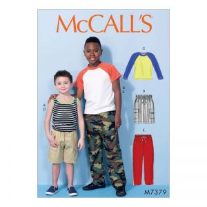 McCall's Sewing Pattern Childrens Casual/M7379. CCE/Age 3-6