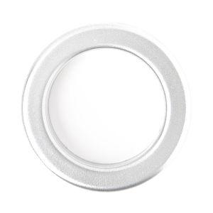 Single Eyelet Rings Matt Nickel Metallic Look 40mm