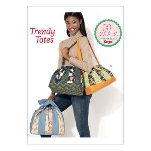 Kwik Sew Sewing Pattern Striped Drawstring Bags/K0230/One Size