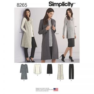 Simplicity Sewing Pattern Misses and Miss Petite Separates/8265.H5/6-14