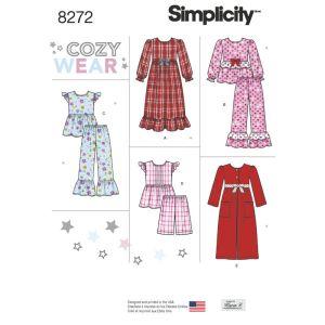 Simplicity Sewing Pattern Girls Sleepwear and Robe/8272.K5/Age7-14