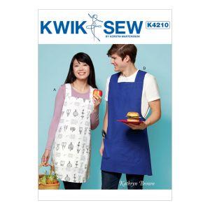 Kwik Sew Sewing Pattern Aprons/K4210/XS-XL