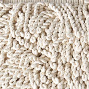 Natural Cotton Bullion Fringe Natural Cream 10cm