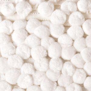 Cotton Bobble Fringe White 50mm