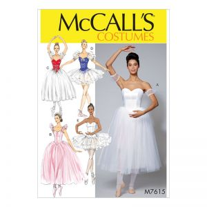 McCalls Sewing Pattern Misses Ballet Costumes  14-22
