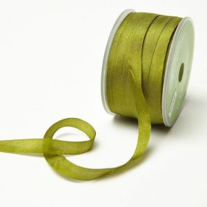 Pure Silk Ribbon Moss 7mm